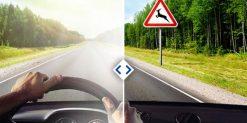 Линза для водителей фотохромная, хамелеон